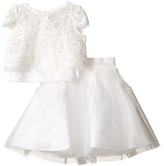 Us Angels Satin & Lace Two-Piece Popover Bolero & Layered Skirt (Toddler)