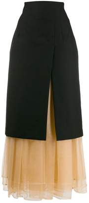 Comme des Garcons layered midi skirt