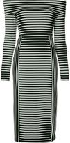 Derek Lam 10 Crosby off the shoulder stripe dress - women - Elastodiene/Polyester/Rayon - M