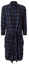 L'Agence Tie Waist Plaid Dress