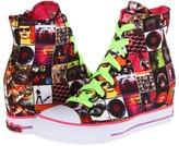 Skechers Gimme 81093L (Little Kid/Big Kid) (Lime/Pink) - Footwear
