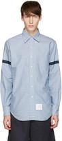 Thom Browne Blue Check Grosgrain Classic Shirt