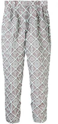 Charles Jeffrey Loverboy Symbol Print Slim Trousers