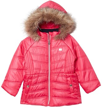 Tommy Hilfiger Baby Girls Colorblocked Hooded Cropped Puffer Jacket 12M