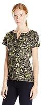 Caribbean Joe Women's Short Sleeve Printed Tee