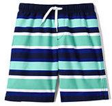 Classic Boys Printed Swim Trunks-Sea Spray Stripes