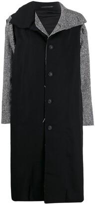 Yohji Yamamoto Herringbone Patchwork Coat