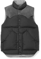 Rocky Mountain Featherbed Suede-Trimmed Shell Down Gilet