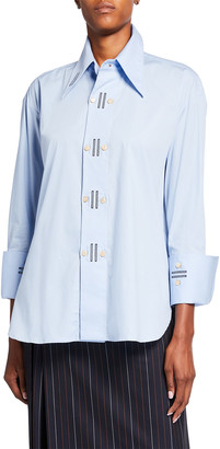 Palmer Harding Marcai Embroidered Long-Sleeve Shirt