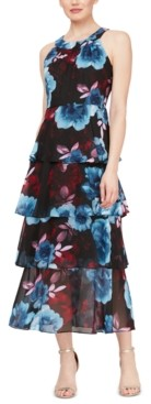 SL Fashions Halter Tiered Maxi Dress