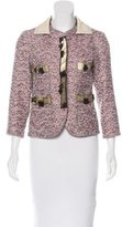 Marc Jacobs Tweed Leather-Trimmed Jacket