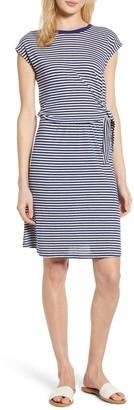 Velvet by Graham & Spencer Stripe Waist Sash T-Shirt Dress