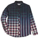 Sovereign Code Boys' Gradient Plaid Stripe Shirt - Big Kid