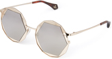 Vivienne Westwood Gold Hexagon Sunglasses VW938S2GDG