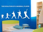 stickalz Stickers Wall Art Wall Decals Home Decor Wall Stickers Decor Nursery Ideas Sticker Art Print Evolution Baseball Bat Glove Sport Tr119 A