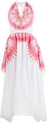 Emilio Pucci Geometric Embroidered Maxi Dress