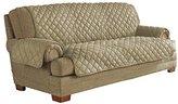 Serta Ultra Suede Waterproof Furniture Sofa Protector, Camel