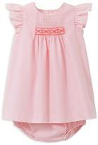 Jacadi Girls' Smocked Poplin Dress and Bloomer Set - Baby