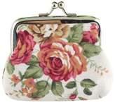 Kipten Womens Wallet Retro Womens Flower Small Wallet Coin Purse Clutch Handbag