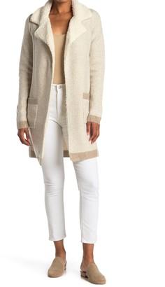 Love Token Fleece Trimmed Tweed Sweater Coat