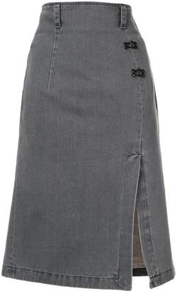 Olivier Theyskens Denim Pencil Skirt
