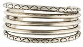 House Of Harlow Engraved Split Cuff Bracelet