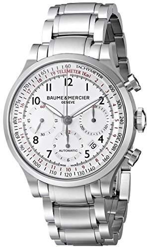 Baume & Mercier Men's BMMOA10061 Capeland Analog Display Swiss Automatic Silver Watch