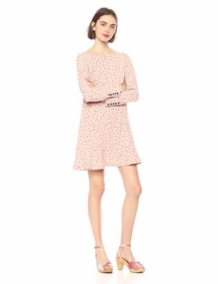 Kensie Women's Dainty Animal Print Dropwaist Dress
