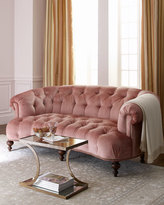 Old Hickory Tannery Brussel Blush Tufted Sofa