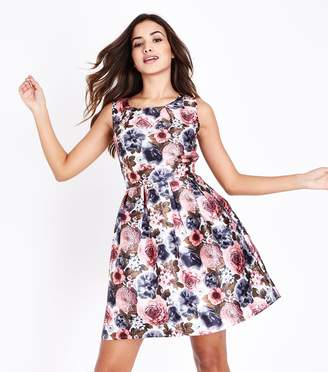 New Look Mela Floral Print Prom Dress