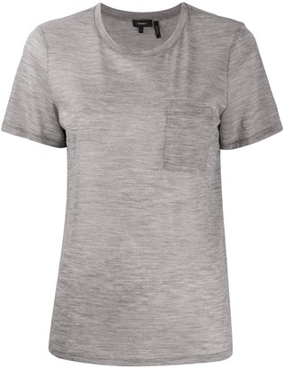 Theory round neck front pocket T-shirt