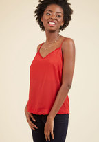 A Hint of Glint Tank Top in Red in S