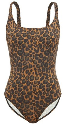 Fisch Oubli Crossover-back Leopard-print Swimsuit - Leopard