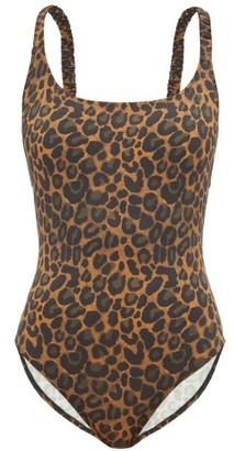 Fisch Oubli Crossover-back Leopard-print Swimsuit - Womens - Leopard