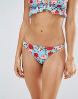 Motel Poppy Print Cheeky Bikini Bottom