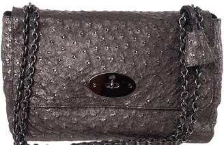 Mulberry Mulbery Grey Ostrich Skin Leather Bayswater Satchel Bag