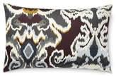 Williams-Sonoma Williams Sonoma Jahari Ikat Printed Silk Lumbar Pillow Cover, Grey