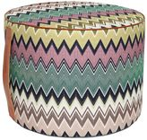 Missoni Togo Zigzag Linen & Cotton Blend Pouf