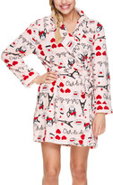 Ooh! La Sleep & Co Women's Sleep Robes PALP - Pink 'Ooh La La' Paris Heart Robe - Juniors