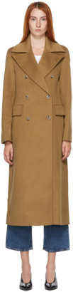 Nanushka Brown Lana Wool Coat