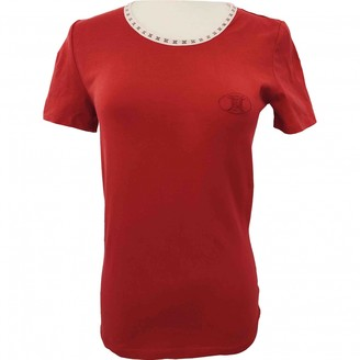 Celine Red Cotton Top for Women Vintage