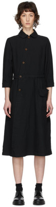 Comme des Garcons Black Oxford Shirt Dress