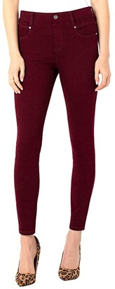 Liverpool Gia Glider Ankle Skinny Pull-On Jeans in Ruby Port (Ruby Port) Women's Jeans