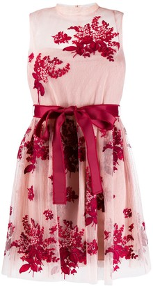 RED Valentino peony embroidered tulle dress