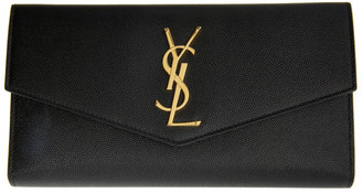 Saint Laurent Black Large Uptown Wallet