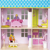 Asstd National Brand Wood Doll House With Furniture