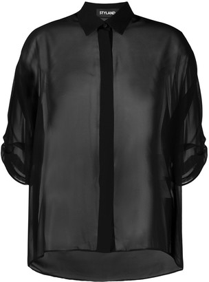Styland Sheer Blouse