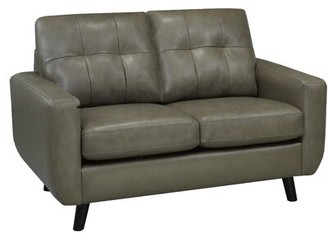 Brayden Studio Lathrop Genuine Leather Loveseat Brayden Studio