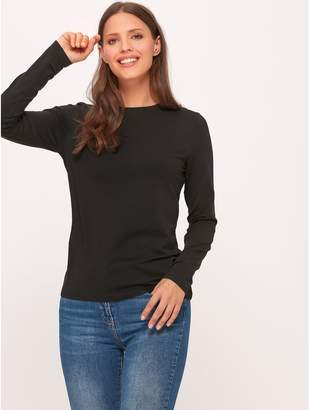 M&Co Plain crew neck long sleeve top