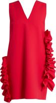MSGM Ruffled V-neck crepe dress